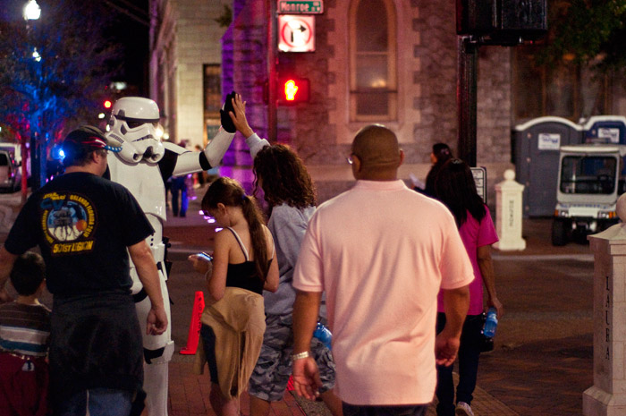 First Wednesday Artwalk and the lovely storm troopers