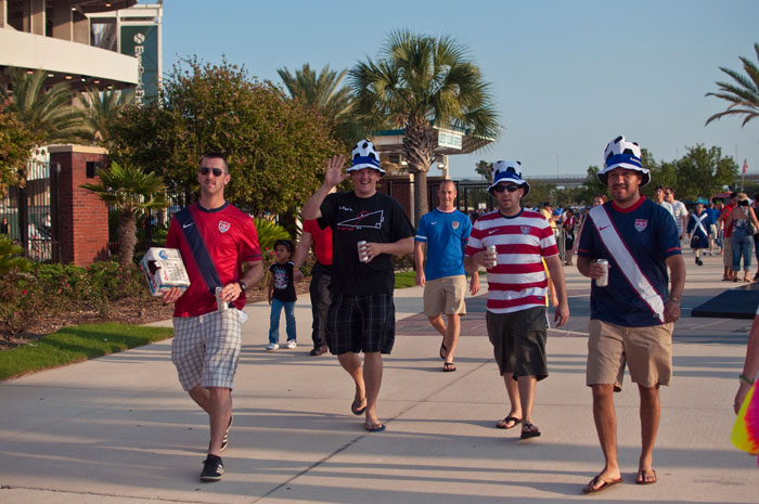 us soccer fans in jacksonville florida at everbank field for the usa vs scotland game 5-1 may 26