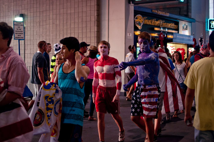 full body paint for the usa vs scotland in jacksonville florida at everbank field