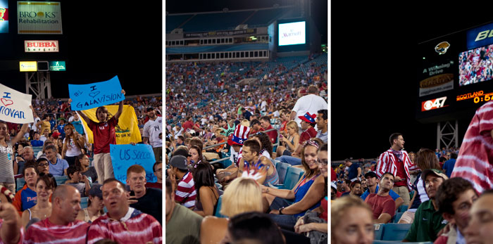 fans usa vs scotland in jacksonville florida at everbank field