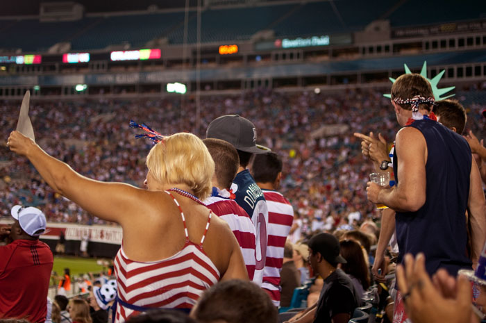 showing support usa vs scotland in jacksonville florida at everbank field