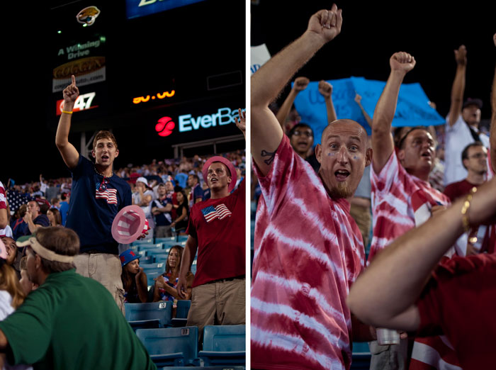 screaming cheering fans usa vs scotland in jacksonville florida at everbank field
