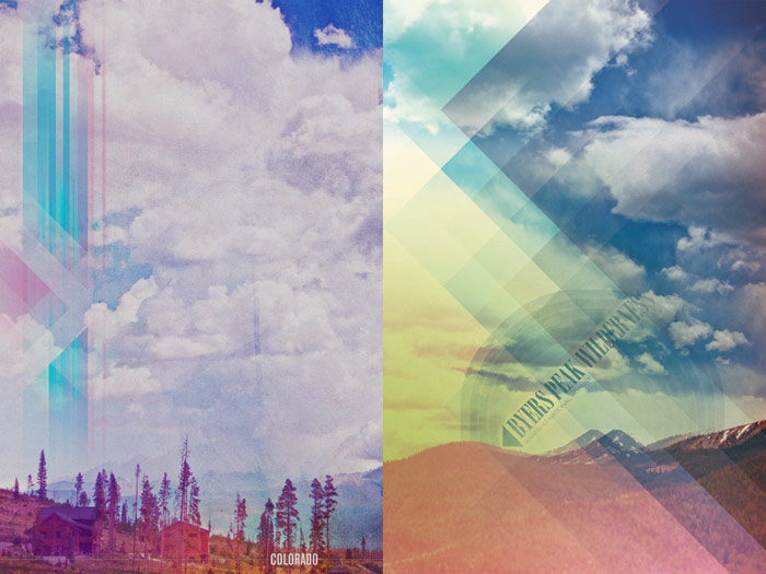 graphic design photo illustration brittany norris digital artwork art piece poster print colorado biggger skies big sky near crooked creek young life camp