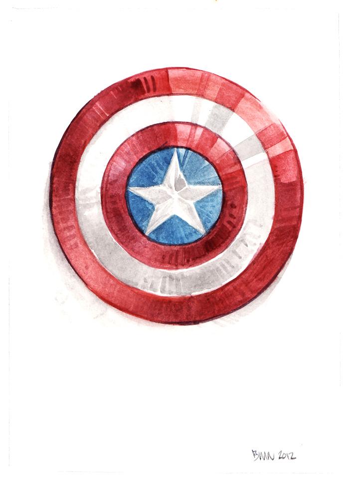 Captain America Captain America Shield Color