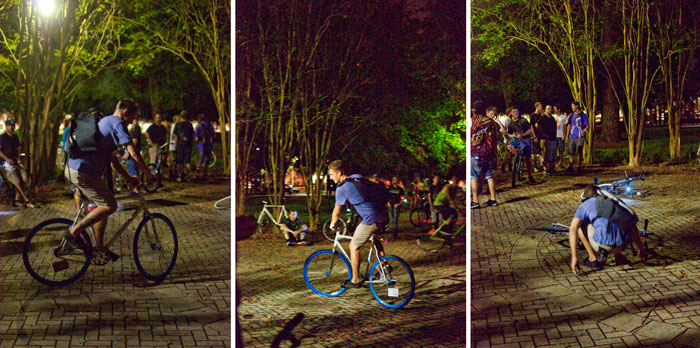 TuNiBiRi! presents Riverside Invasion: Round II TuNiRiSiBiRi jacksonville florida ride bikes bicycles last stop riverside Park tim fixed gear tricks riding backwards