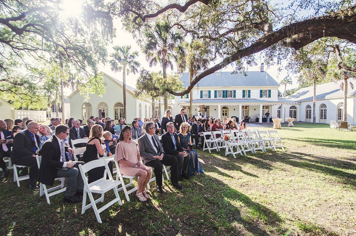 florida vintage wedding The Ribault Club Fort George Island