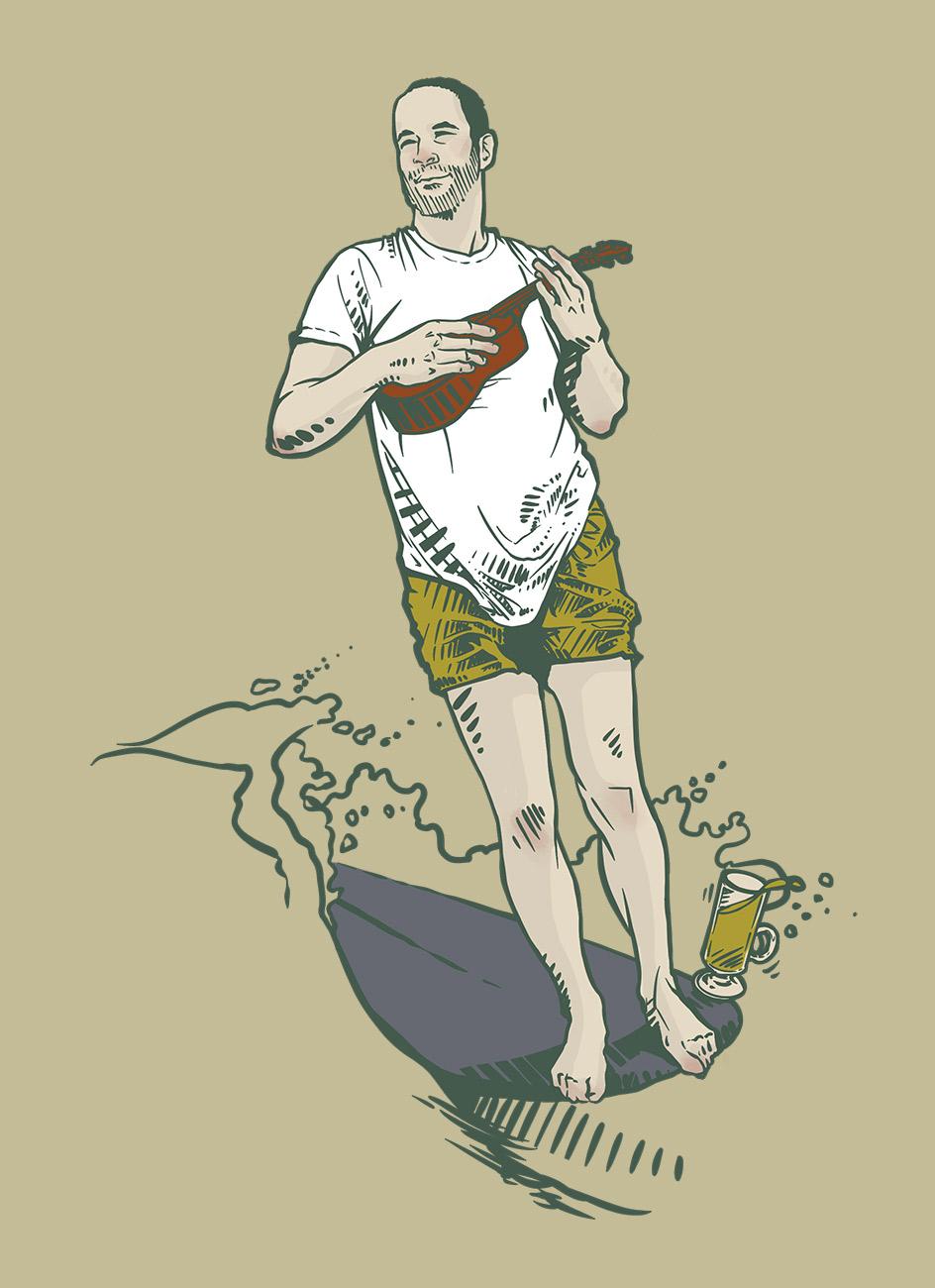 Illustration by Brittany Norris for Allbirds + Whalebone Handle the Holidays Cookbook of Jack Johnson